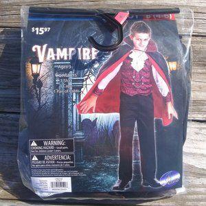 Vampire Halloween Costume Boys Small 4-6 Cape